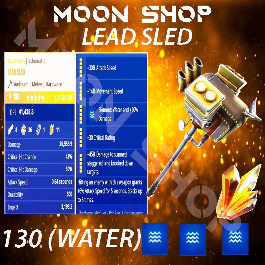 Lead sled hammer   x10  130 FULL PERK 💦