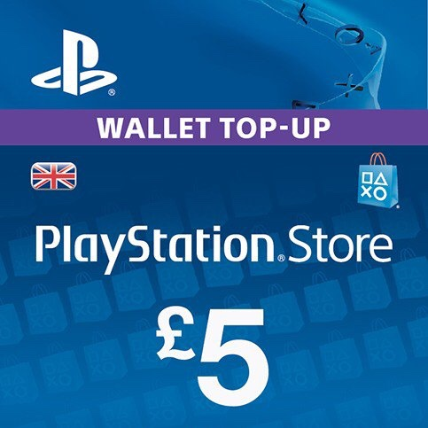 PlayStation Network Card - £5 (PS Vita/PS3/PS4) - PlayStation Store