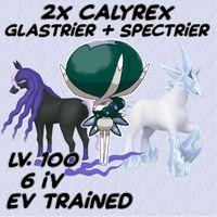 Bundle | 2x Calyrex + Horses