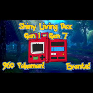 Bundle | Shiny Living Dex 1-7 Gen