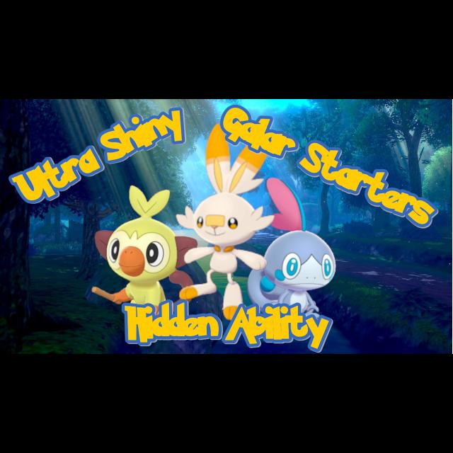 Bundle Ha Shiny Galar Starters In Game Items Gameflip Wraz z pozostałymi starterami, grookey jest jednym z najszybciej ujawnionych pokémonów swojej generacji. gameflip