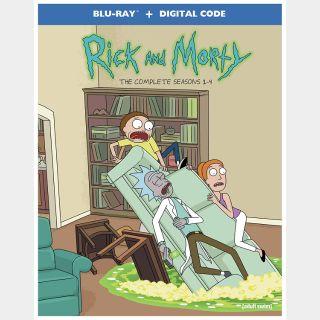 Rick and Morty Seasons 1-4 - Vudu HDX