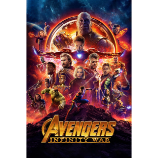 Avengers: Infinity War - UV HDX or iTunes HD via MA
