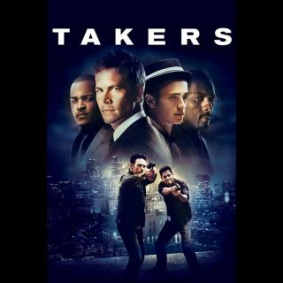 Takers - Vudu HD or iTunes HD via MA