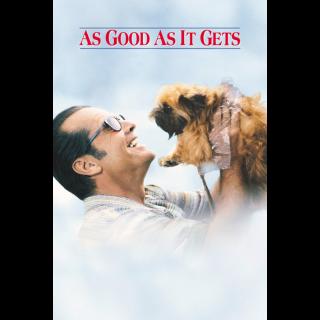 As Good as It Gets - Vudu HD or iTunes HD via MA