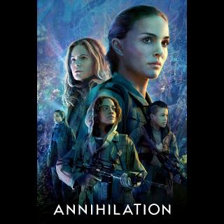Annihilation - UV HDX and iTunes HD (Full Code)