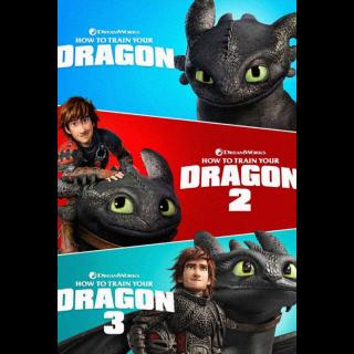 How to Train Your Dragon Trilogy - Vudu HD IW