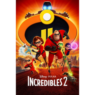 Incredibles 2 - Vudu HD or iTunes HD via Movies Anywhere (FULL CODE)