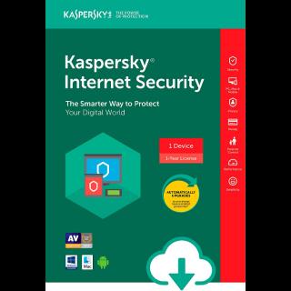 Kaspersky Internet Security 2020 1 Device 1 Year Worldwide Global License Key