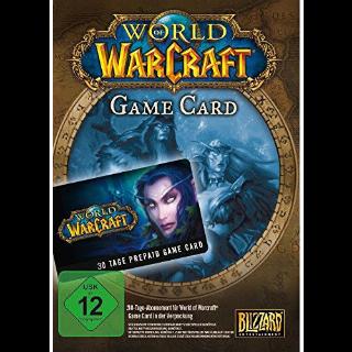 World of Warcraft 30 Days Game Time US KEY