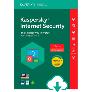 Kaspersky Internet Security 1 Device 1 Year Worldwide Global License Key