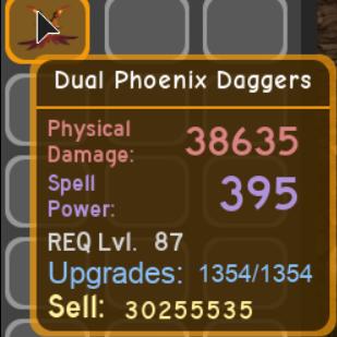 Other   Dual Phoenix Daggers $10