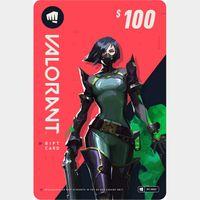 $100 VALORANT Gift Card - PC