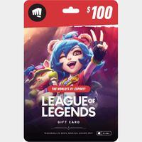 $100 League of Legends Gift Card - NA Server Only