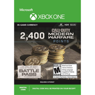 2400 Call of Duty - Modern Warfare Points - XBOX ONE - INSTANT DELIVERY