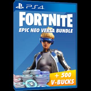 Fortnite Neo Versa - PS4 Bundle - 500 vbucks - INSTANT DELIVERY