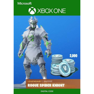 Fortnite - Rogue Spider Knight Bundle + 2000 V-Bucks (REAL key which will NEVER be deleted from your account)