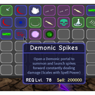 I will Trade you Demonic Spikes