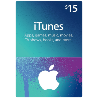 iTunes $15 Gift Card (USA) - Great deal!