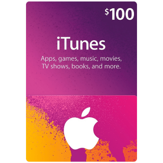 $100 iTunes Gift Card