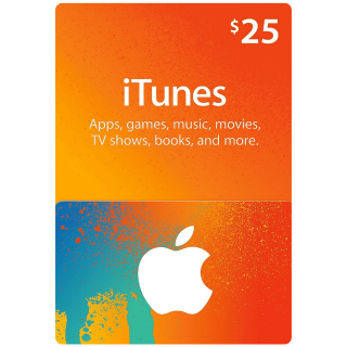 $25 iTunes Gift Card (USA) - Great deal!