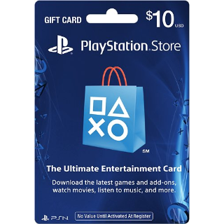 Playstation Store $10 Gift Card (USA) - Great price!