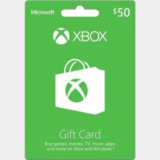 $50 Xbox Digital Code