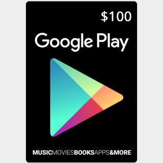 $100 Google Play Gift Card (USA) - Great discount!