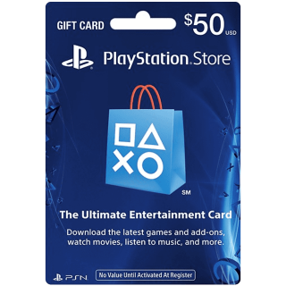 $50 Playstation Store Gift Card (USA) - Great discount! - for Dunno Biscuit