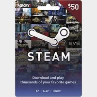 Steam $50 Gift Card - Great deal!