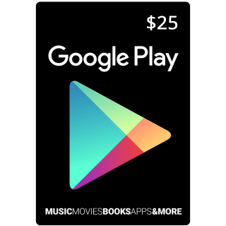 $25 Google Play Gift Card (USA) - Great deal!