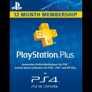 PlayStation Plus - 1 Year (US)