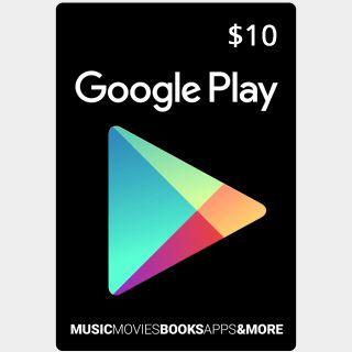 $10 Google Play Gift Card (USA)