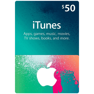 $50 iTunes Gift Card (USA) - Great deal!