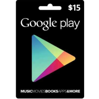 $15 Google Play Gift Card (USA)