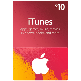iTunes $10 Gift Card (USA) - Great deal!