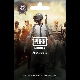 1500+300 UC PUBG Mobile!