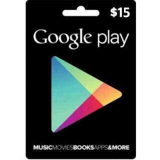 $15 Google Play Gift Card (USA)