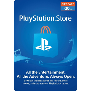$20.00 USD PlayStation Store Gift Card (Digital Code, Instant Delivery)