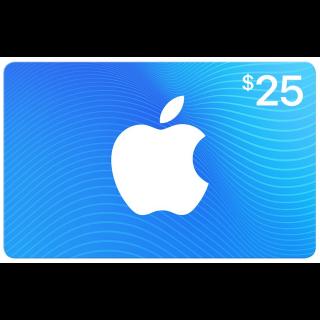 $25.00 Canada iTunes eGift Card (Instant)