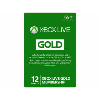 12 months Xbox Live GOLD  59$ INSTANTLY