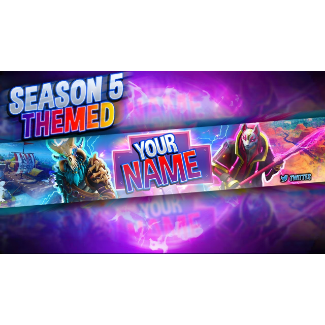 Fortnite Season 5 YouTube Banner HD - Other - Gameflip