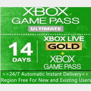 Xbox Live Gold + Game Pass (Ultimate) 14 Days 2 Weeks Trial Code Global