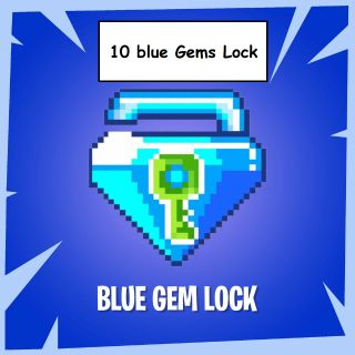 10 blue gems lock Fast Delivery and cheap