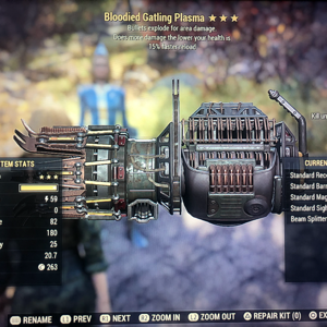 Weapon | bloodied explo gatling plasma