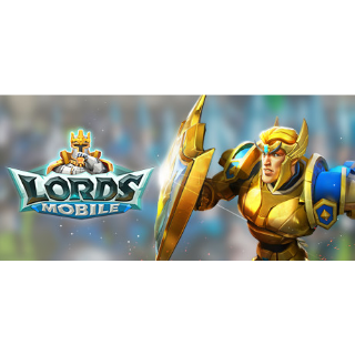 Lords mobile starter pack (200$)