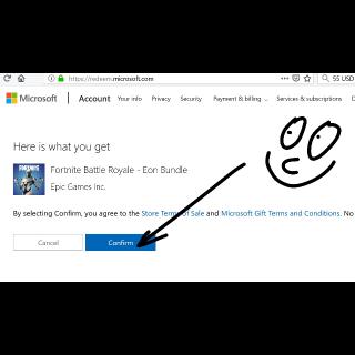 Fortnite Battle Royale + Eon Cosmetic Set + 2000V-Bucks Xbox One Bundle