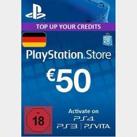 €50.00 PlayStation Store Network Card (PSN) GERMANY🔑