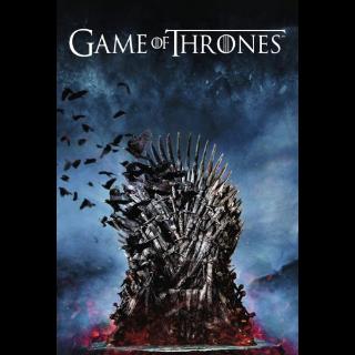 Game of Thrones seasons 1-8 Vudu HDX