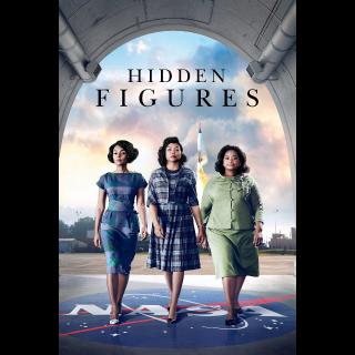 Hidden Figures (digital HD, iTunes) From 4k Blu Ray